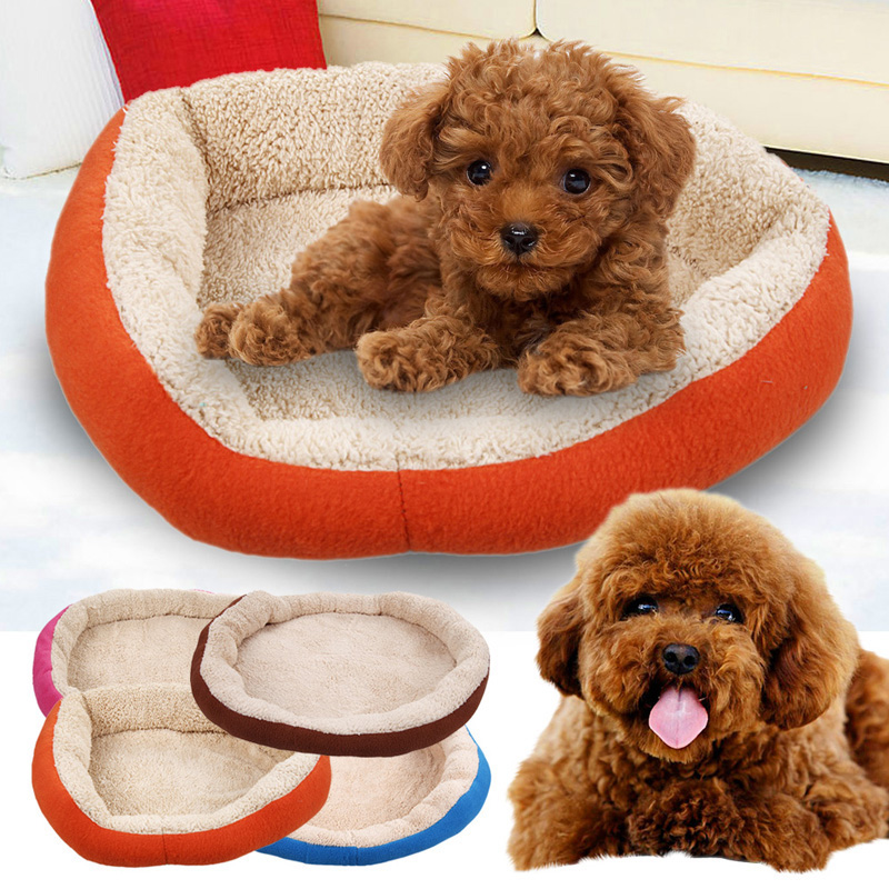 1 Pcs 4 Colors Newly Design Soft Fleece Warm Dog Bed House Plush Nest Mat Pad For Pets Puppy Cats Free Shipping MTY3