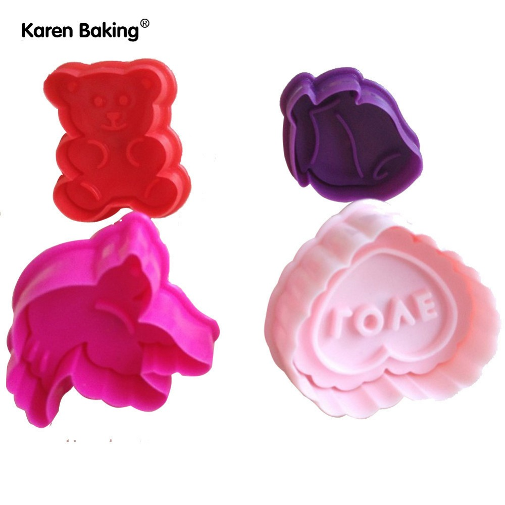 New 3D Cookie Cutter Cookie Stamp Bakeware Cake Decoration Tools Cake Mold(China (Mainland))