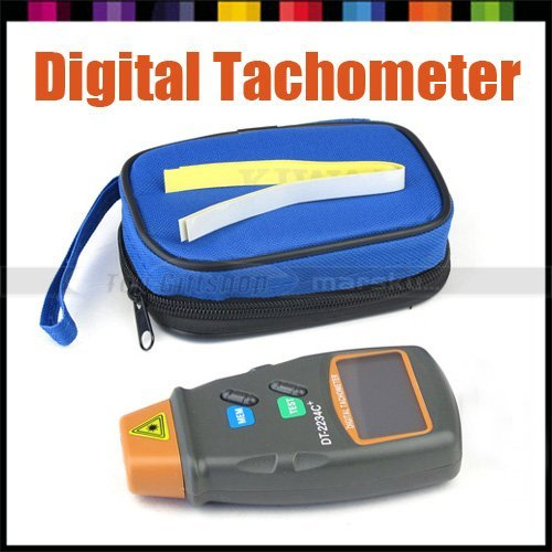 Free Shipping!!! Portable LCD Digital Laser Photo Tachometer Non Contact Reflective Mark RPM Tach w/ microcomputer