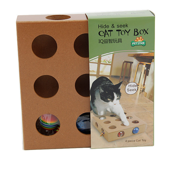 Free Shipping IQ Cat Toys Box Puzzle Toy for Pets Dog Accessories Cat Pet Toy Hide and Seek(China (Mainland))