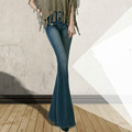 2016 Spring and Autumn New Fashion Plus Size Slim Hip Women s Jeans High Waist Wide