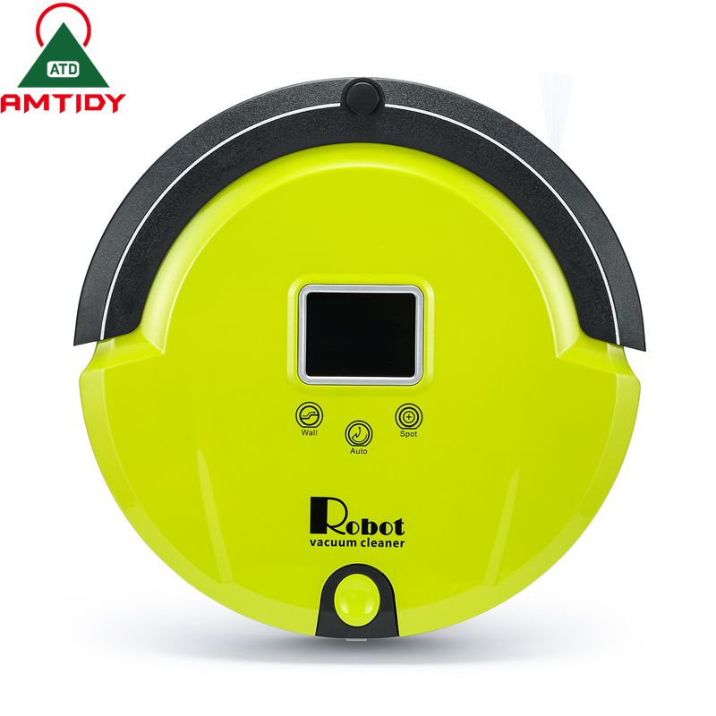 Amtidy Robotic Vacuum Cleaner Self Charge Remote Control LCD Touch Screen Side Brush Along Wall Cleaning Aspiradora Robot(China (Mainland))