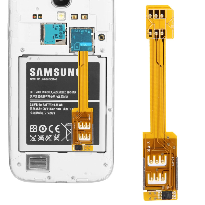 Brand New Dual SIM Card Adapter Samsung Galaxy S5/i9600/S4 /i9500/ S3/i9300/ Note3/ N9000/ Note2/N7100/ Mega 6.3/ i9200 - Creativehome store