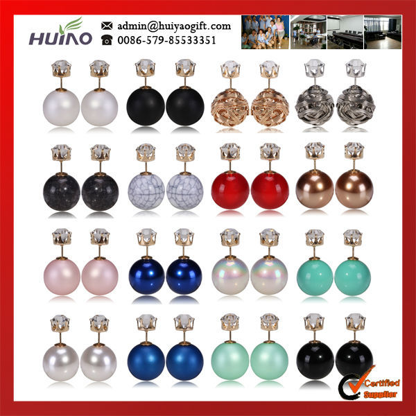2015 Promotion Limited Trendy Fine Jewelry Earrings Free Shipping Fashionable Design Cheap Bulk Price Round Zircon Stud Earring(China (Mainland))