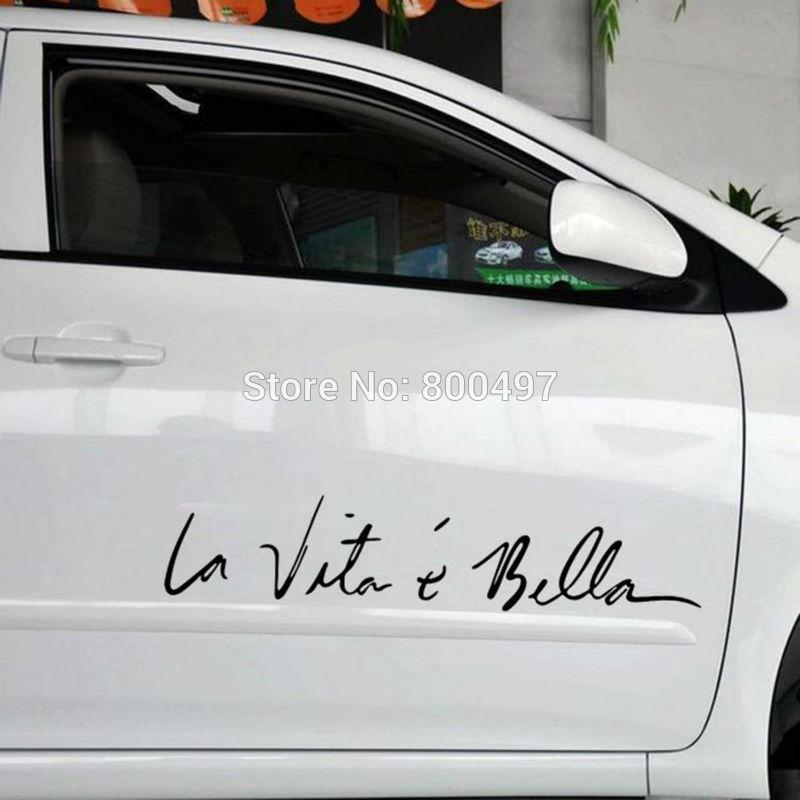 Funny Sticker Life Is So Beautiful La Vie Est Si Belle Car Sticker Auto Decal Car Accessories for Tesla Bentley Jaguar Volvo(China (Mainland))