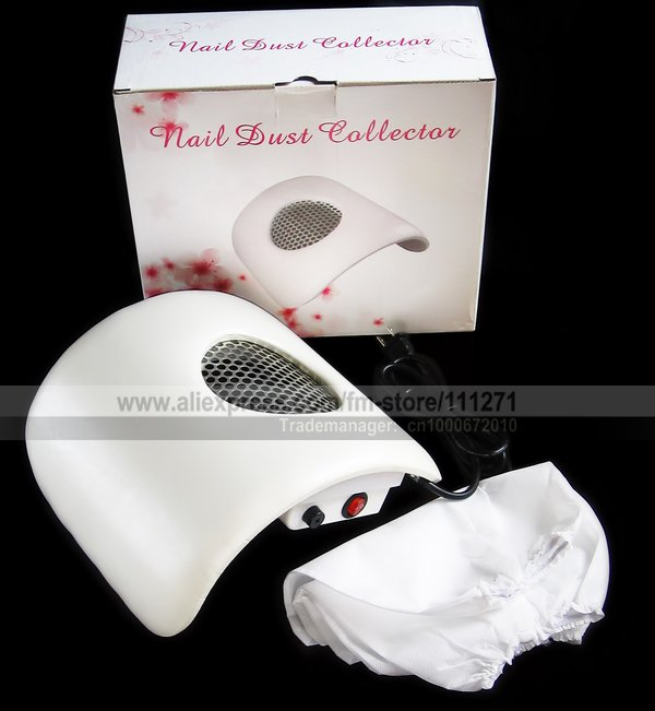 1set - Nail Dust Suction Collector / Nail Vacuum Cleaner - for manicure / nail art - w/ Hand Rest Design - Free Shipping