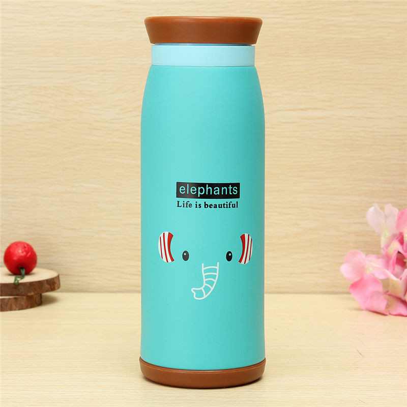 Top Quality 500ml Colourful Cute Cartoon Animal Kid Vacuum Flasks Thermoses Insulated Mug Milk Water Tea Cup Traveling(China (Mainland))