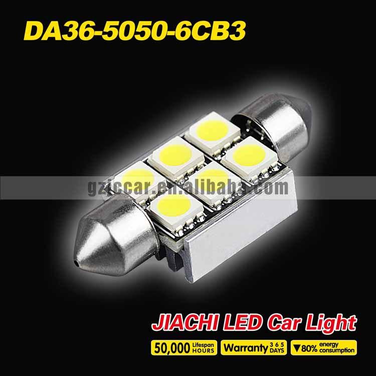 super quality automotive led light ,festoon CANBUS led c5w 36mm 5050 6SMD auto led work light(China (Mainland))