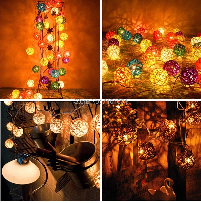2015 Newly 10pcs/lot party Decoration Rattan Ball Party Supplies Sepak Takraw Valentine'S Day Christmas Outdoor Decoration 3CM(China (Mainland))