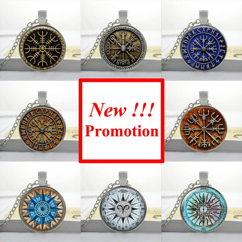 2015 New Fashion Hot Glass Dome Jewelry Viking Compass Necklace Glass Picture Pendant Gifts For Men(China (Mainland))