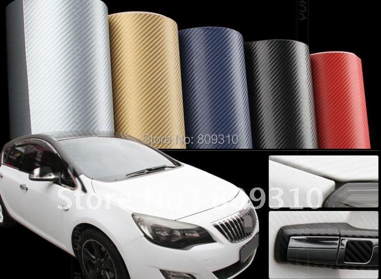 3D Car sticker (400*60CM) carbon fiber film/panel face decoration Free shipping+Wholesale