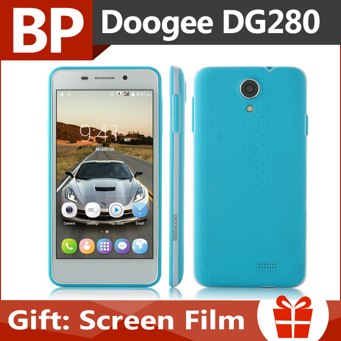 Original Doogee LEO Dg280 5 Inch IPS Mt6582 Quad Core Android 5.0 Lollipop 3G Mobile Cell Phone 1GB RAM 8GB ROM 5MP CAM In Stock(China (Mainland))