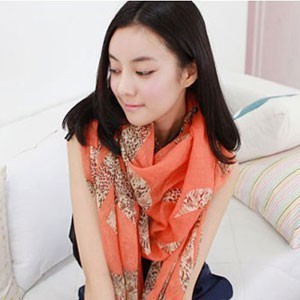 New fall/winter women's abstract Leopard print scarf Super warm long Leopard print scarf(China (Mainland))