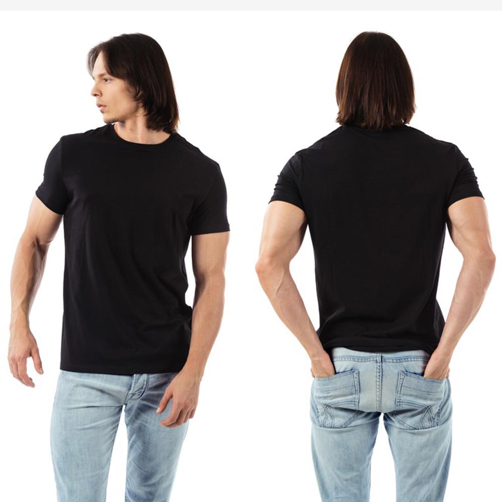 Plain black t shirt quality - Enjoythespirit Men S Plain Black T Shirt Classic Mens T Shirt Tops Tees Casual Hip Hop Men Cotton Tshirts Summer Short Sleeves