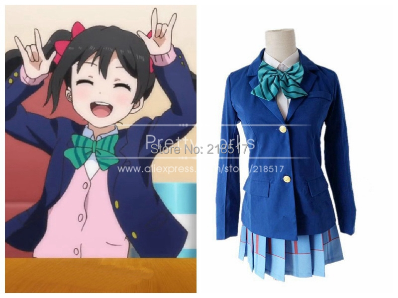 Free Shipping Japanese Anime Love Live Cosplay Costumes Halloween Party Lovelive School Uniforms Blazer+Skirt + 1 Piece Neck tie(China (Mainland))