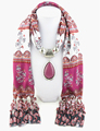 2016 Geometric vintage tassel african scarves scarf jewelry hijab print shawl with pendent necklace scarfs