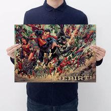 Anime Marvel/DC 4 Endgame Figuras Brinquedos The Avengers Homem De Ferro Batman Spiderman Papel Kraft Do Vintage de Decoração Para Casa Crianças brinquedos Presentes(China)