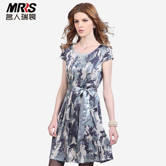 New Arrival Plus Size women's noble elegant ink slim waist one-piece dress, remarkable women clothing for summer, beach dress