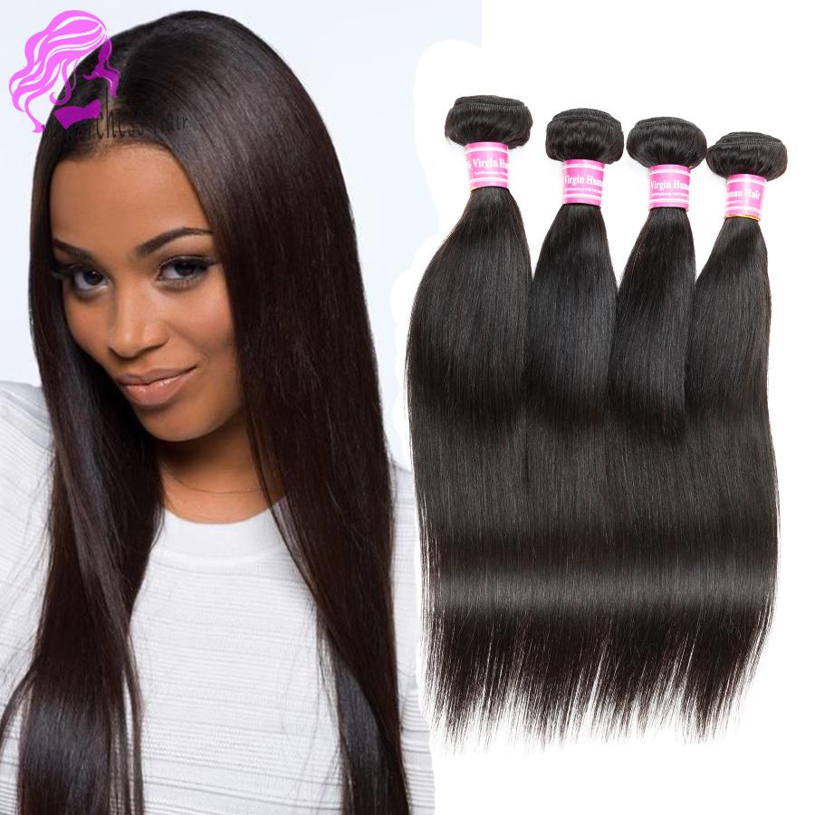 Peruvian Virgin Hair Straight 4Pcs 7A Unprocessed Virgin Peruvian Straight Hair,Rosa Hair Products Cheap Human Hair Extensions