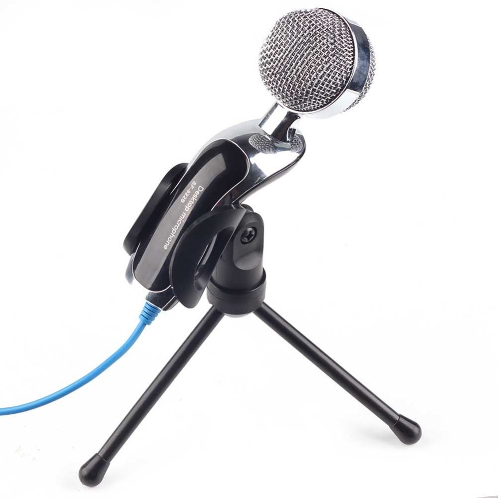 Professional Studio Speech Mini Computer USB Microphone Mic With Stand Holder For PC Laptop(China (Mainland))