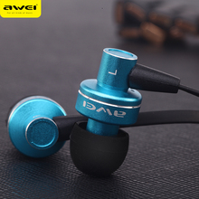 Genuine Awei ES900i In-Ear Earphone for Iphone IPOD Samsung HTC Xiaomi,Clear Bass with Mic Headset Headphone,Free shipping