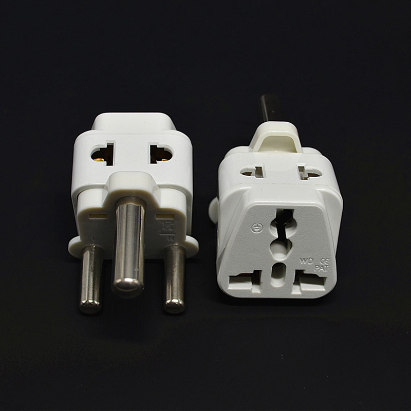 White Portable 10pcs White UK AU US EU to South Africa AC Power Plug splitter Travel Converter Adapter Electrical Plugs Adaptors(China (Mainland))
