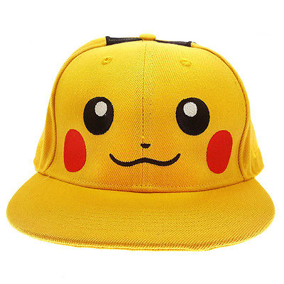 font b Pokemon b font Pikachu Fashion boy Hip Hop Adjustable Baseball Snapback Hat Cap