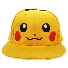 Pokemon Pikachu Fashion boy Hip Hop Adjustable Baseball Snapback Hat Cap Visors