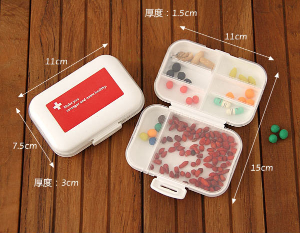 2015 Travel must seal kit foldable one week carry a small portable tablet package travel medicine box Pill Box 0703(China (Mainland))