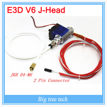 E3D-V6 HotEnd Full Kit – 1.75mm  0.2mm/0.3mm/0.4mm/0.5mm of nozzles 12V Bowden for RepRap  3D Printer Extruder j-head