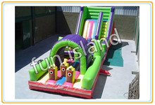 Big city residential inflatable bouncers with obstacle course(China (Mainland))