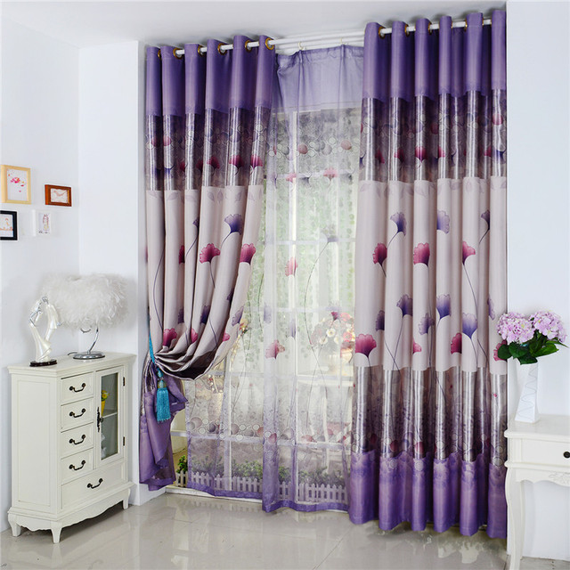 Double Sided Drapes : Custom korean double sided printing finished cloth curtain