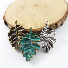 Buy Julie Wang 20pcs Antiqued Green Bronze Imitation Leaves Charm Personal Alloy Plated Pendants Jewelry Necklace Accessories for $2.68 in AliExpress store
