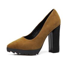 Black/Green/Yellow Shoes Woman High Heel Fashion Pointed Toe Shoes Office Dress Women High Heels Sapatos Femininos De Salto(China (Mainland))