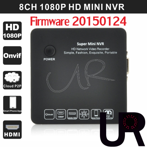 20 Languages 8CH Black Onvif 1080P Network Video Recorder Portable Full HD Super Mini NVR for IP Camera with HDMI and VGA Output(China (Mainland))