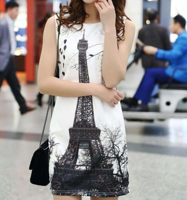 Korean Summer Fashion Sexy Dress Women New 2015 Sleeveless