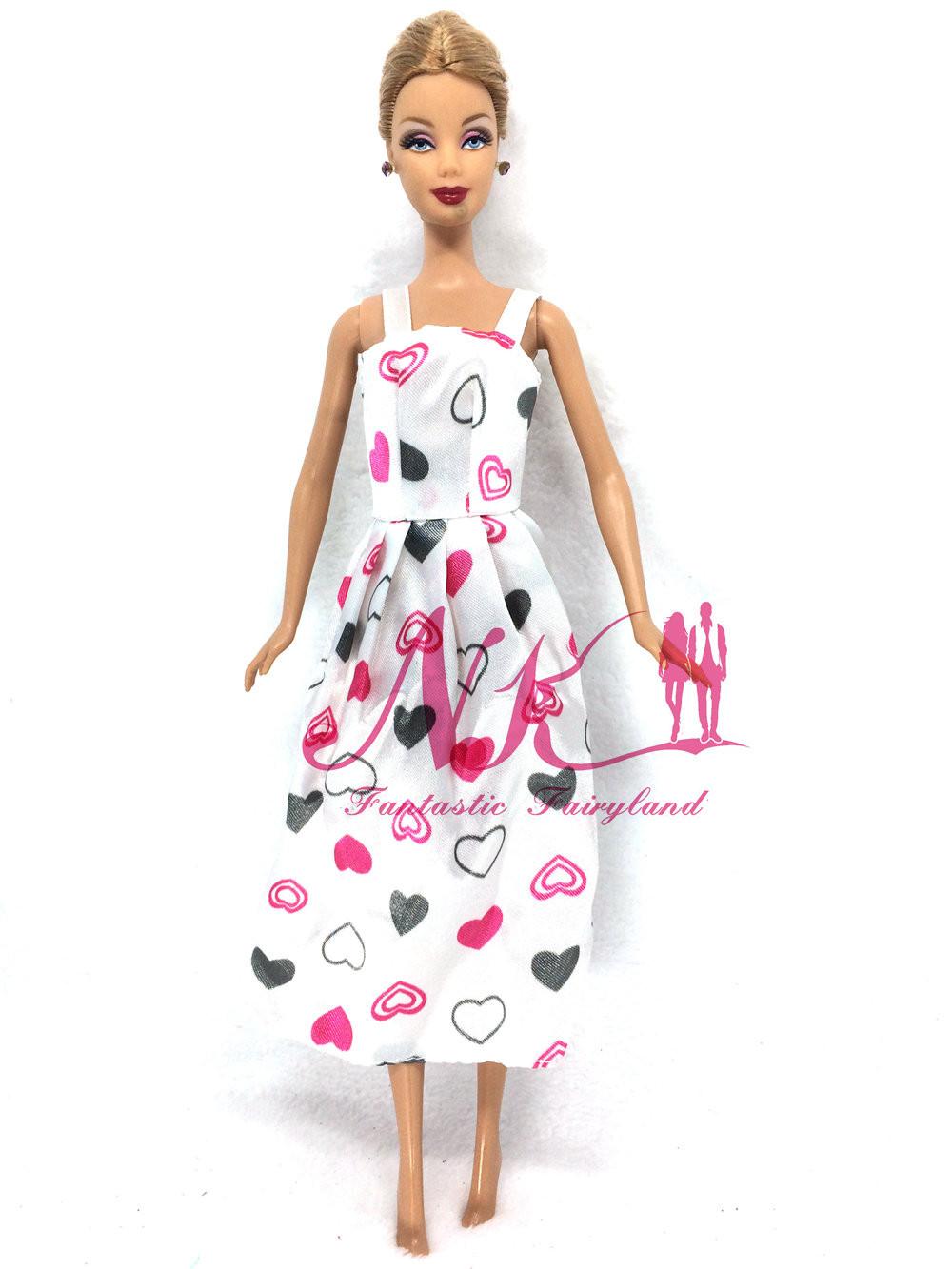 NK One Pce Doll Gown Lovely Maxiskit Easy Model Handmade Celebration Dress Informal Gown For Barbie Doll Finest Women'Reward zero01E