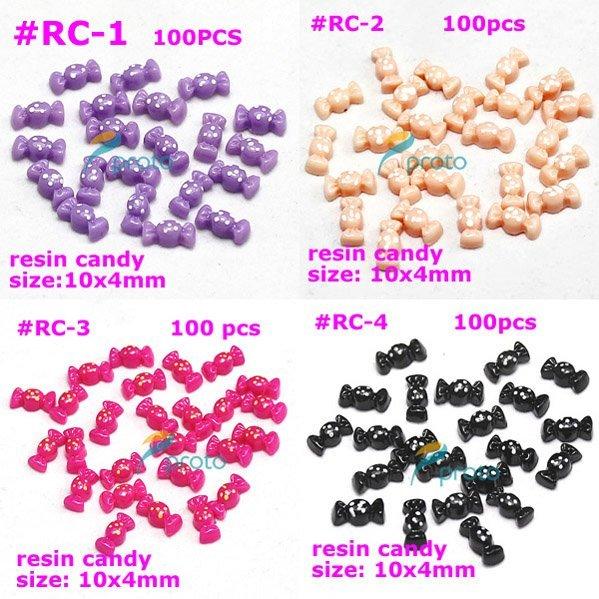 Freeshipping-100X Lovely Resin Candy 3D Nail Art Decoration Fashion Nail Art wholesale SKU:D0101X