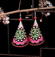 Women Original Jewelry Handmade Vintage Ethnic Earring Tibetan Silver Earring Water Drop Embroidery  Earrings For Women YC187(China (Mainland))