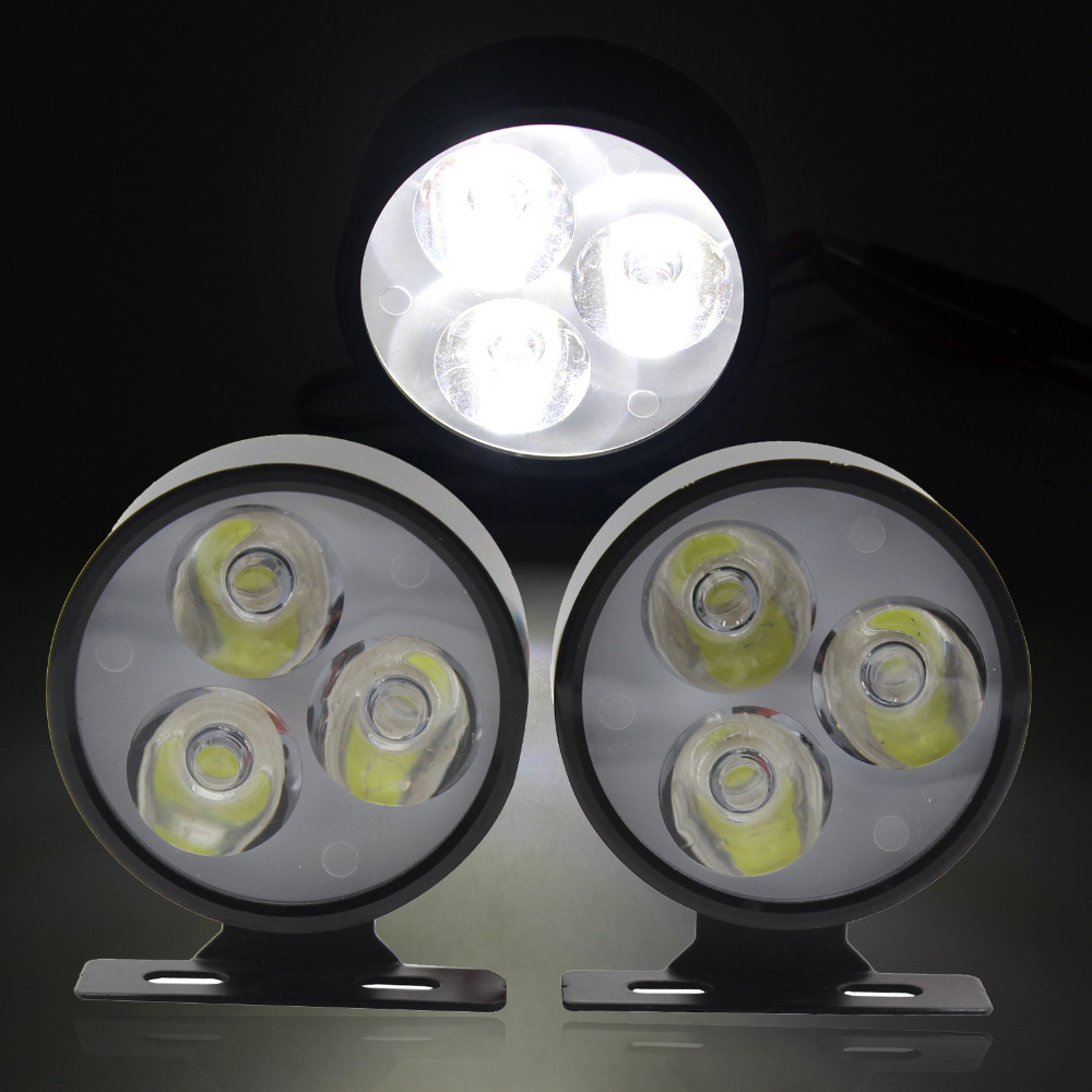 2x 12V/24V Round Flood LED Off Road Work Light Lamp For Car Truck 4WD 4X4 UTE Black DRL Daytime Running Lights(China (Mainland))