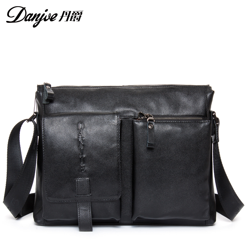 Fashion sport male travel bags brand genuine leather men messenger bag cover double outer bag man crossbody bag firm(China (Mainland))