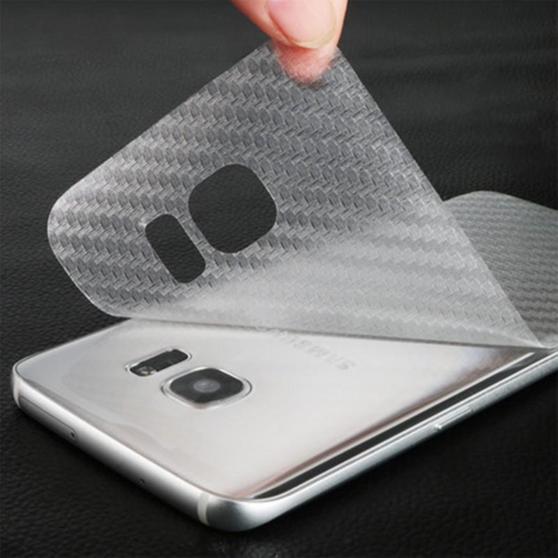 Durable 3D Anti-fingerprint Transparent Carbon Fiber Back Film Screen Protector Protective Guard For Samsung Galaxy S7 Edge