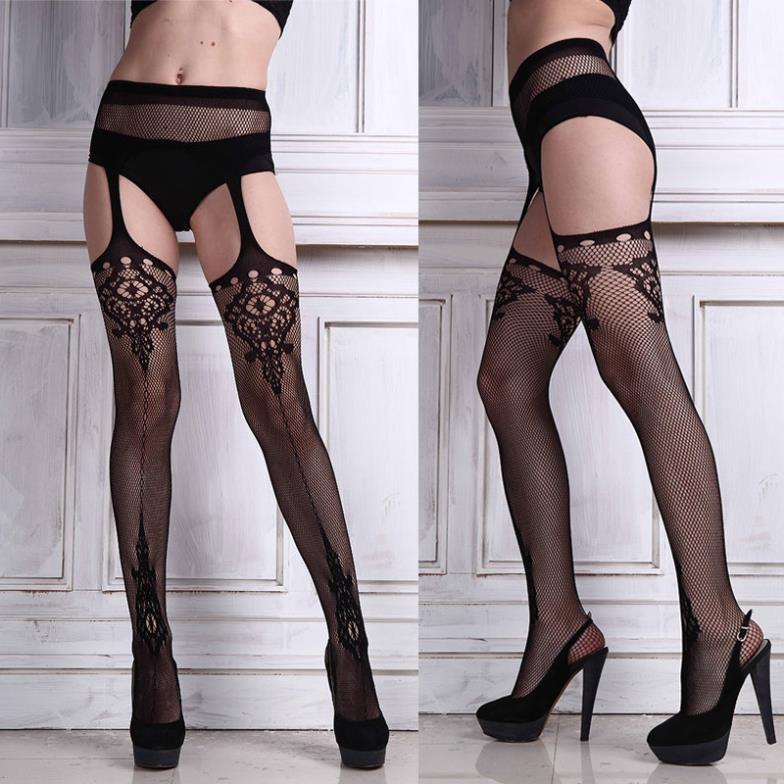 1 x Free Shipping Sexy Ladies Black Lace Top Thigh-Highs Leggings Stockings Garter Belt Socks(China (Mainland))
