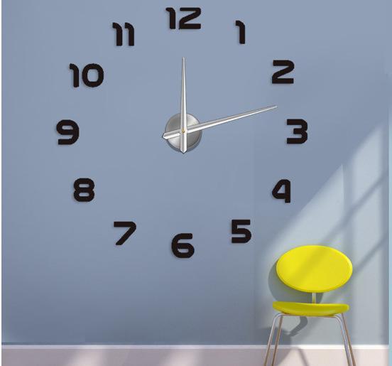 Home decoration!big number mirror wall clock Modern design,large designer clock.3d watch wall,unique gifts 007 - EMILYGU KIDS FASHION STORE store