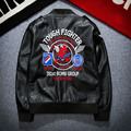 Fashion Badge Patch Japanese Embroidery Young Men s Coat Locomotive PU Leather Jacket