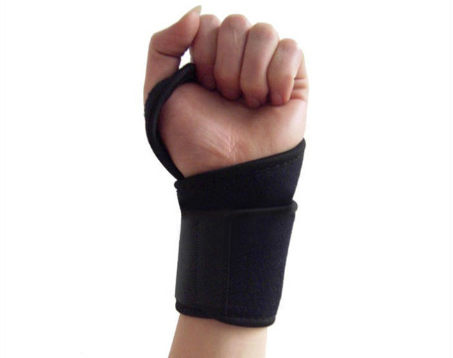 Free Shipping 1pair Wrist Gloves Exercise Palm Wrist Strap Hand Support Elastic Brace Sports Adjustable(China (Mainland))