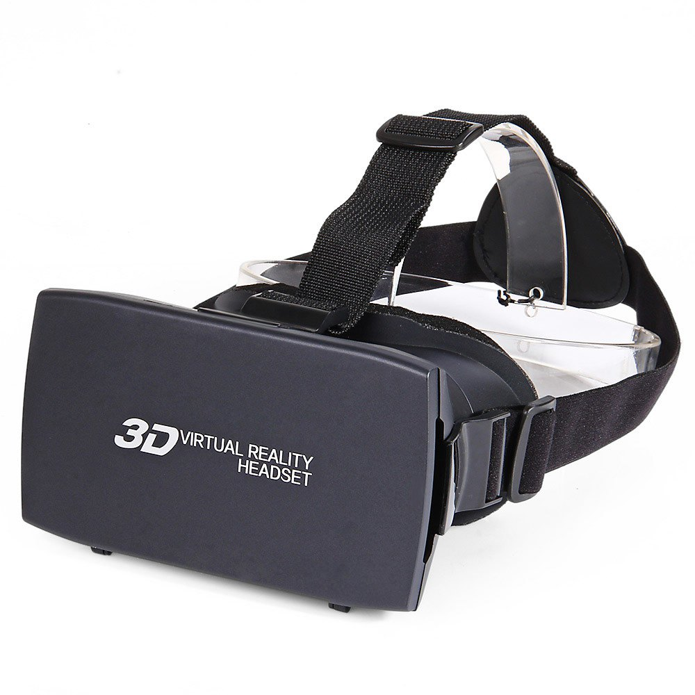 Black Practical Universal Google Virtual Reality 3D Video Glasses With Elastic Band Cover VR Glasses For 4-7 Inch Smartphones(China (Mainland))