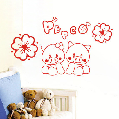 Popular pig kitchen decor buy cheap pig kitchen decor lots for Kitchen cabinets lowes with wall sticker art for kids