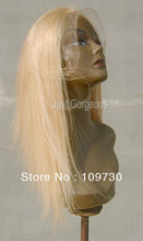 jj 00650 Full Lace 100% Indian Remy 613 Platinum Pale Blonde Wig(China (Mainland))