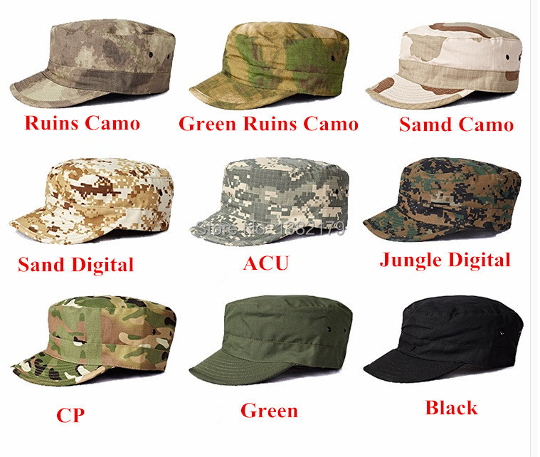Army fans outdoor Military Tactical  combat soldier hat flat cap hat fashion cap military camouflage cap(China (Mainland))